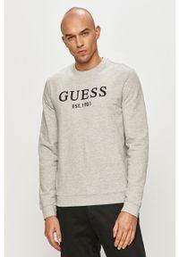 Szara bluza nierozpinana Guess casualowa, na co dzień, bez kaptura