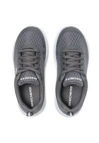 skechers - Sneakersy SKECHERS - Microspec Max 403774L/CHAR Charcoal. Okazja: na uczelnię, na spacer. Kolor: szary. Materiał: materiał. Szerokość cholewki: normalna