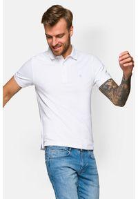 Lancerto - Koszulka Biała Polo Patrick. Typ kołnierza: polo. Kolor: biały. Materiał: włókno, tkanina, materiał, bawełna. Wzór: ze splotem, gładki. Styl: klasyczny
