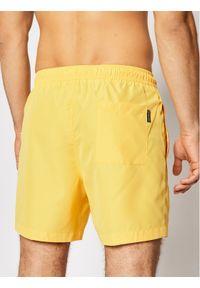 Calvin Klein Swimwear Szorty kąpielowe Drawstring KM0KM00590 Żółty Regular Fit. Kolor: żółty