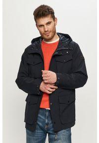 Niebieska kurtka Tom Tailor gładkie, na co dzień