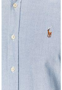 Niebieska koszula Polo Ralph Lauren casualowa, krótka, na co dzień