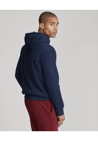 Ralph Lauren - RALPH LAUREN - Granatowa bluza z kapturem. Typ kołnierza: kaptur. Kolor: niebieski. Materiał: polar, bawełna, jeans. Długość rękawa: długi rękaw. Długość: długie. Wzór: haft