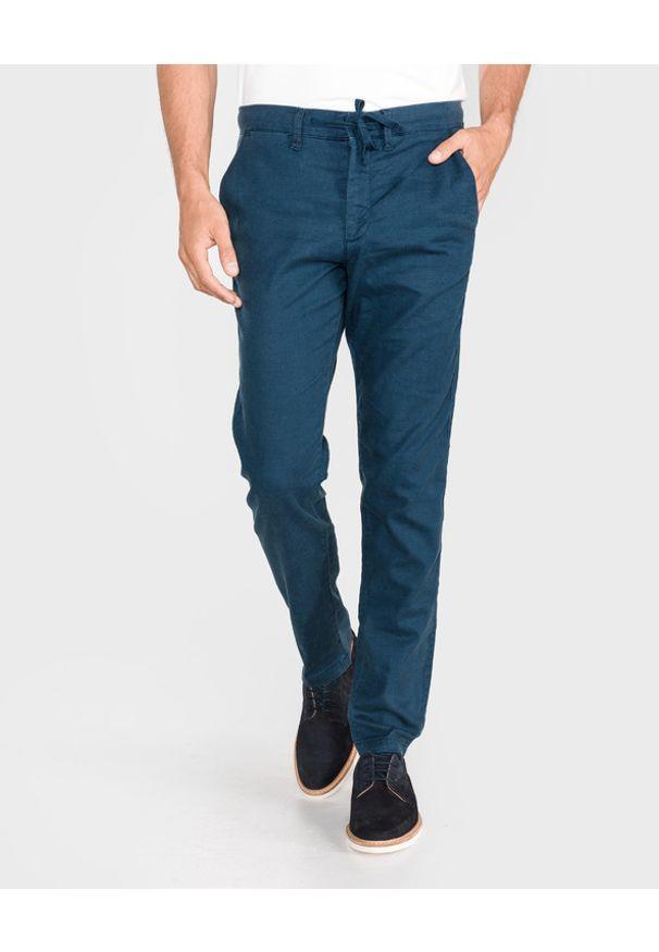 Niebieskie spodnie Jack & Jones w kolorowe wzory