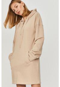 Beżowa sukienka Answear Lab wakacyjna, mini