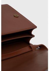Kurt Geiger London - Torebka skórzana. Kolor: brązowy. Materiał: skórzane. Rodzaj torebki: na ramię