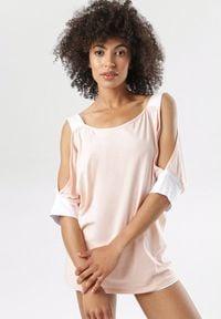 Born2be - Jasnoróżowa Bluzka Kerrigan. Okazja: na co dzień. Kolor: różowy. Materiał: dzianina. Długość rękawa: na ramiączkach. Styl: casual
