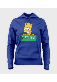 MegaKoszulki - Bluza damska z kapturem Bart Simpson. Typ kołnierza: kaptur