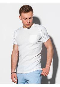 Biały t-shirt Ombre Clothing klasyczny