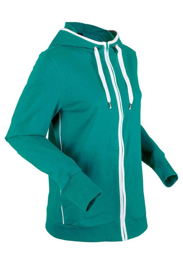 Zielona bluza bonprix z kapturem