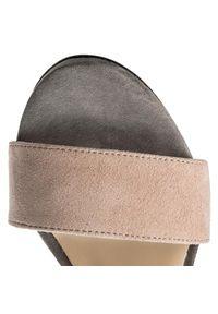 Różowe sandały Karino z aplikacjami, eleganckie