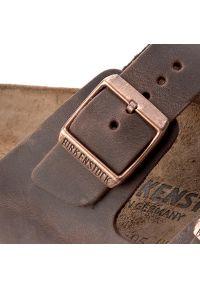 Brązowe klapki Birkenstock