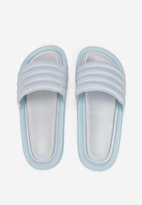 Born2be - Niebieskie Klapki Euphephine. Okazja: na co dzień. Nosek buta: otwarty. Kolor: niebieski. Materiał: softshell, materiał, guma. Styl: klasyczny, casual
