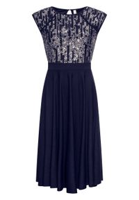 Niebieska sukienka bonprix