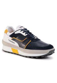 Niebieskie sneakersy Togoshi z cholewką, na co dzień
