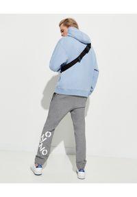 Kenzo - KENZO - Niebieska bluza z haftowaną grafiką - EDYCJA LIMITOWANA. Kolor: niebieski. Materiał: jeans. Długość rękawa: długi rękaw. Długość: długie. Wzór: haft. Styl: klasyczny