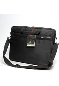 Czarna torba na laptopa Logo