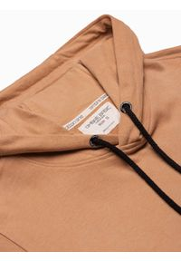 Ombre Clothing - Bluza męska z kapturem B1147 - jasnobrązowa - XXL. Typ kołnierza: kaptur. Kolor: brązowy. Materiał: bawełna. Styl: klasyczny