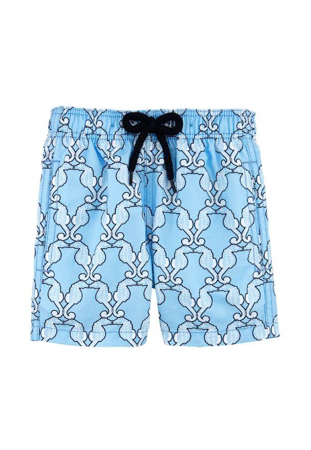 Niebieskie spodenki Vilebrequin na lato, z nadrukiem
