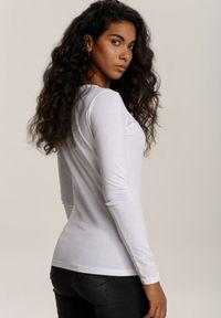 Biała bluzka z długim rękawem Renee