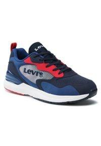 Levi's® - Sneakersy LEVI'S® - VFAS0011T Navy Red 0290. Okazja: na uczelnię, na spacer. Kolor: niebieski. Materiał: materiał. Szerokość cholewki: normalna