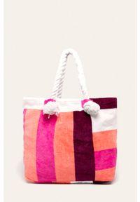 Różowa torba plażowa Seafolly duża, na ramię