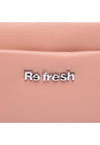 Refresh - Torebka REFRESH - 83374 Nude. Kolor: różowy. Materiał: skórzane #6