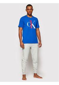 Calvin Klein Underwear T-Shirt Lounge 000NM1903E Niebieski Regular Fit. Kolor: niebieski
