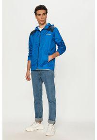 Niebieska kurtka columbia casualowa, z kapturem, na co dzień
