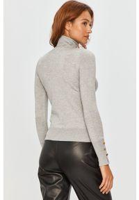 Szary sweter Answear Lab długi, z długim rękawem, wakacyjny, z golfem