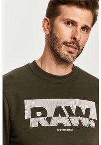 Zielona bluza nierozpinana G-Star RAW bez kaptura, casualowa, na co dzień