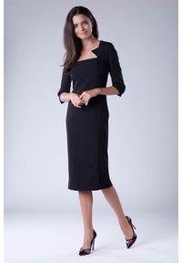 Czarna sukienka na imprezę Nommo elegancka