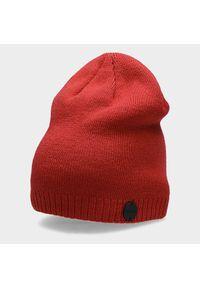 Czerwona czapka zimowa outhorn