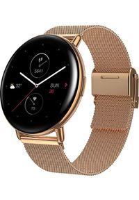 Złoty zegarek Huami smartwatch