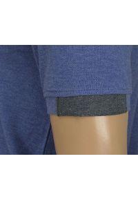 Koszulka Polo, Niebieska z Kieszonką -100% BAWEŁNA- Chiao, Męska, Krótki Rękaw. Typ kołnierza: polo. Kolor: niebieski. Materiał: bawełna. Długość rękawa: krótki rękaw. Długość: krótkie