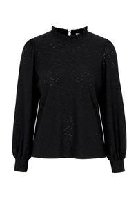 Czarna bluzka Freequent elegancka, w ażurowe wzory