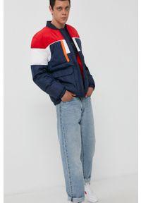 Tommy Jeans - Kurtka bomber. Okazja: na co dzień. Kolor: niebieski. Materiał: poliester. Styl: casual