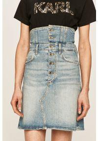 Niebieska spódnica Guess Jeans na co dzień, casualowa