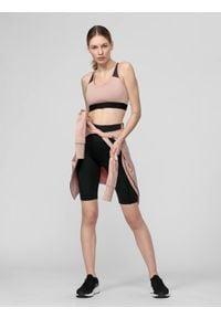 4f - Spodenki treningowe damskie. Kolor: czarny. Materiał: włókno, dzianina, materiał. Sport: bieganie