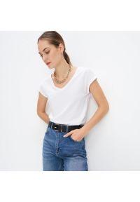 Mohito - Koszulka basic Eco Aware - Biały. Kolor: biały