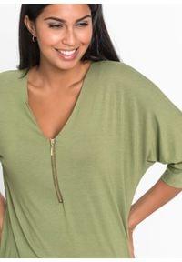 """Shirt """"nietoperz"""" bonprix zielony lodenowy. Kolor: zielony"""