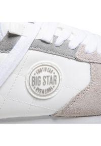 Białe półbuty casual Big-Star z cholewką, na płaskiej podeszwie