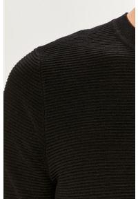 Czarny sweter Jack & Jones na co dzień, casualowy, z okrągłym kołnierzem