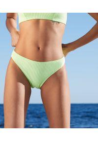 Elyna Majtki Bikini Od Kostiumu Kąpielowego - 44 - Anyżowy - Etam. Materiał: prążkowany, materiał, tkanina