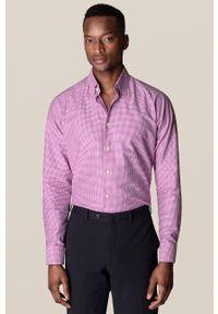 Eton - ETON - Koszula. Typ kołnierza: kołnierzyk klasyczny. Kolor: czerwony. Materiał: tkanina. Długość rękawa: długi rękaw. Długość: długie. Styl: klasyczny