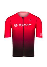 Rudy Project - Koszulka rowerowa RUDY PROJECT FACTORY. Kolor: brązowy. Materiał: skóra, materiał. Sport: kolarstwo, fitness