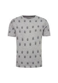 Szary t-shirt TOMMY HILFIGER z nadrukiem