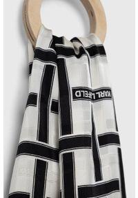 Karl Lagerfeld - Chusta. Kolor: czarny. Materiał: tkanina