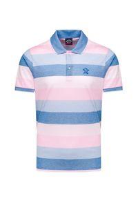 Różowa koszulka polo Paul and Shark polo