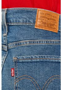 Niebieska spódnica Levi's® z podwyższonym stanem, na spotkanie biznesowe, biznesowa